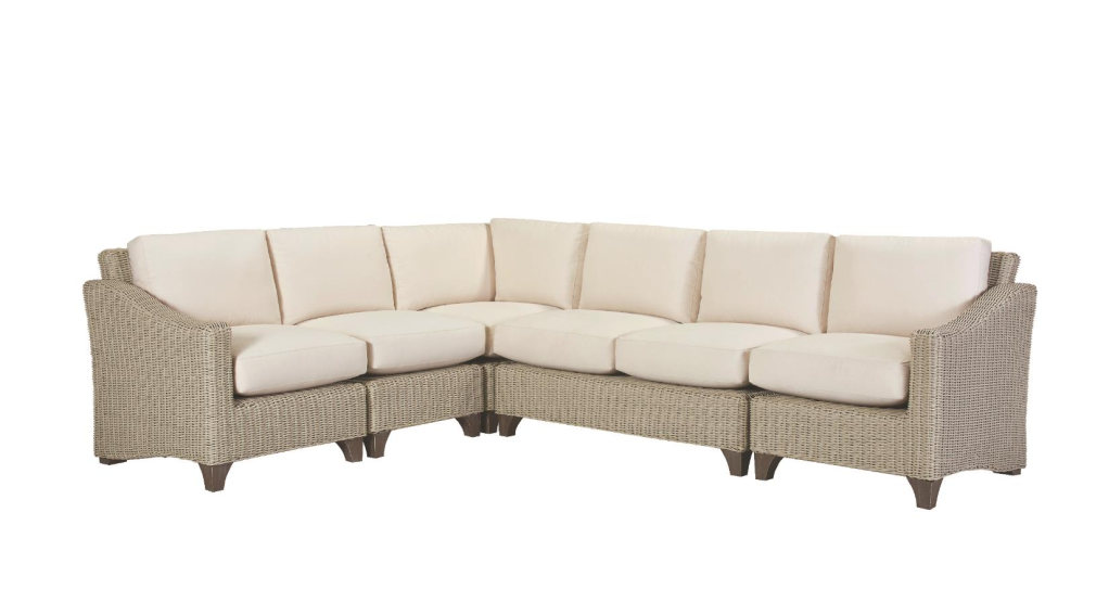 REQUISITE DEEP SEATING SECTIONAL, BONE FINISH