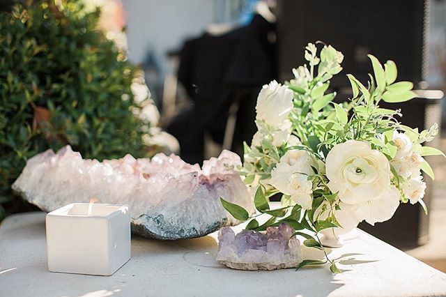 "Wedding season is pretty much here! We LOVE weddings and being able to be a part of your special day! Pictured here is a gorgeous combination of a custom scented candles for a wedding in Ojai and handpick crystals from @shopdusk . Let us help you Scent Your Wedding! Scents are so important - ""Nothing is more memorable than a smell. One scent can be unexpected, momentary and fleeting, yet conjure up a childhood summer beside a lake in the mountains""."