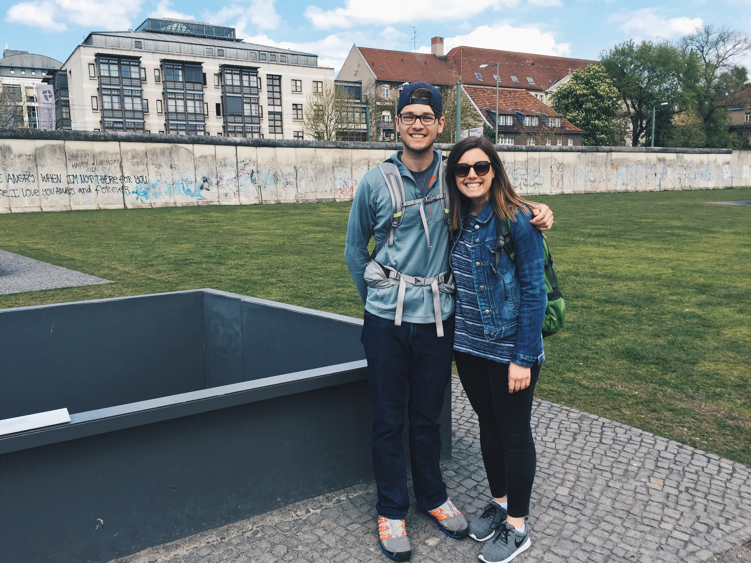 My brother, Greg, and I in front of the Berlin Wall - April 2016