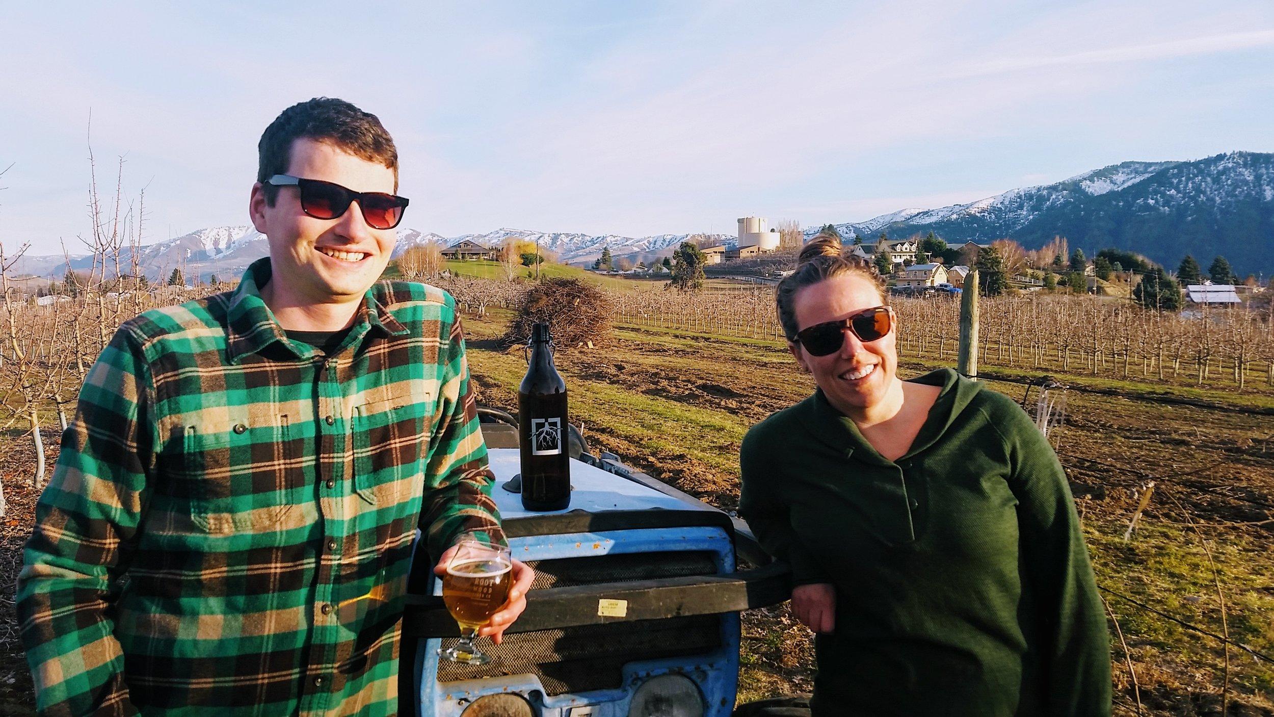 Cidermakers James Caddey and Kate Koenig Howard