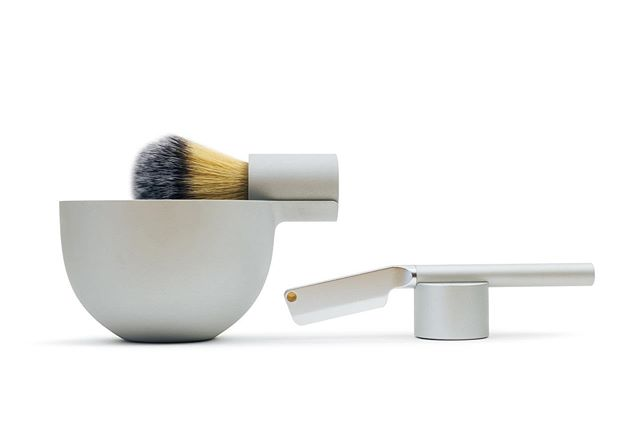 Angle Razor, Brush and Bowl by Morrama (£150 as part of latest @kickstarter) Link in bio - @d_and_ad Product Design Graphite Pencil - @wallpapermag Magazine Grooming Product of the Year Shortlist.  #industrialdesign #mensstyle #mensbeauty #shaving #grooming #silver #anodised #dandad #dandad19 anglebymorrama.com