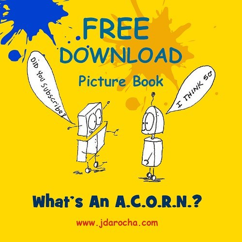 To celebrate the beginning of the school year we are offering our picture book, What's An A.C.O.R.N.? For a one week free download! August 1st through August 8th. Go to link under profile or visit our website. Enjoy! ------------------------------------ #picturebooks #picturebookdownload #freedownload #childrensbook #indieauthor #indieauthorsofinstagram #artistofinstagram #kidsbookstagram #kidsbook #jdarochabooks #lovebooks📚 #storybook #robot #robotbook #robotart #kidslovetoread #floridaartist #selfpublished