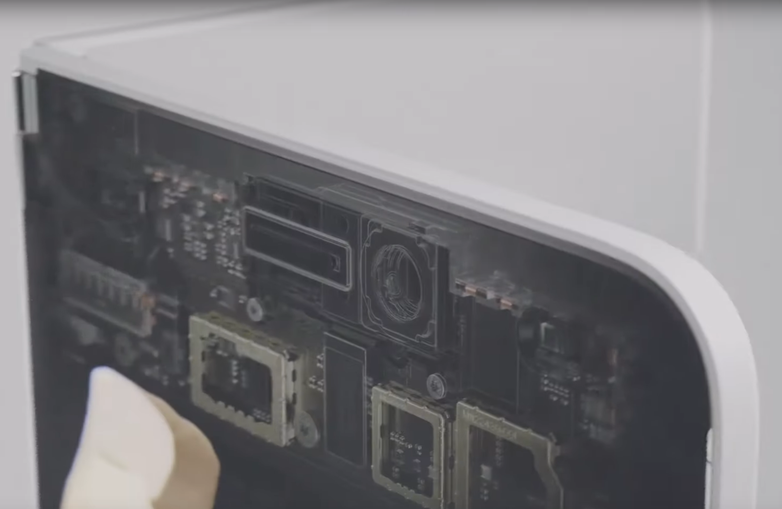 The sole visible camera on the Surface Neo preview video, with a curiously large size for a selfie camera