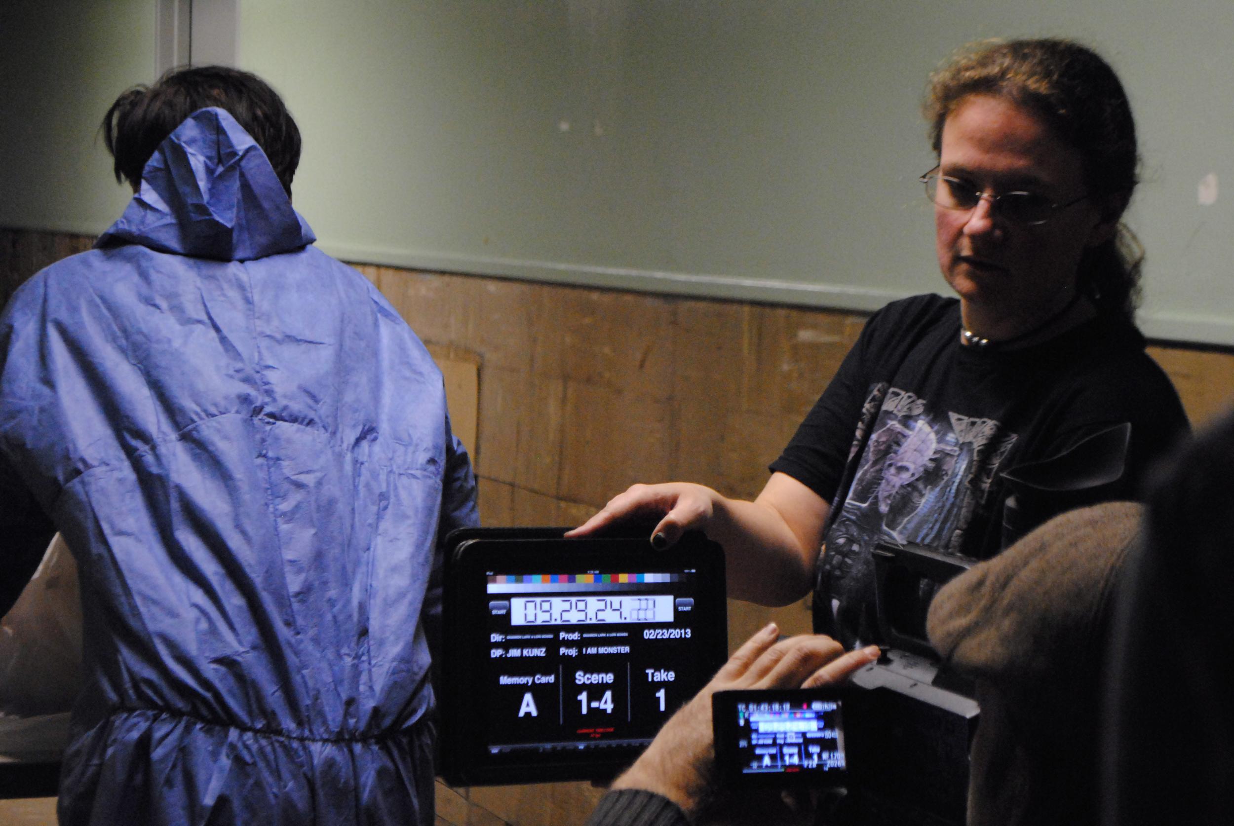 Co-director Lori Bowen running slate.
