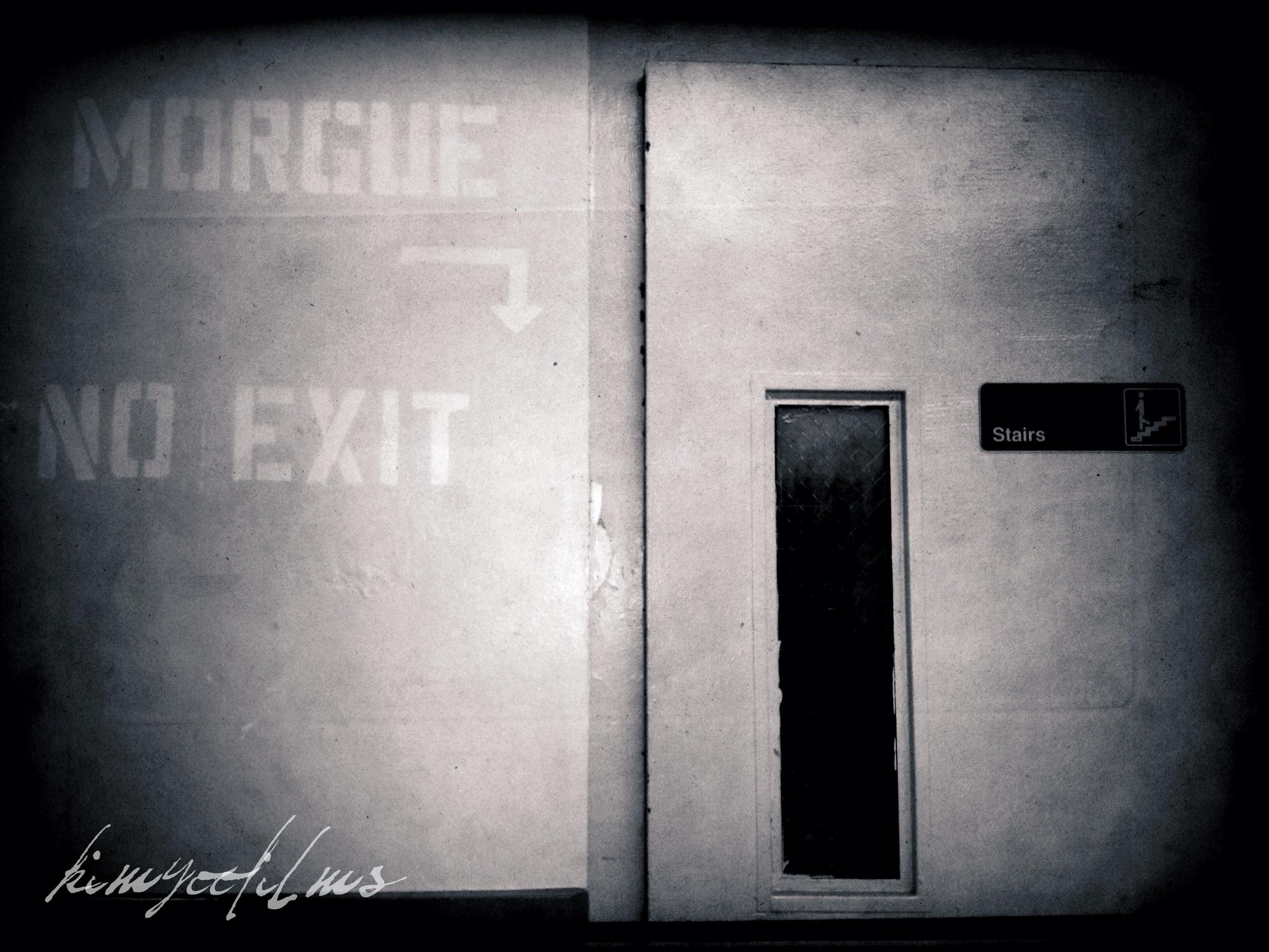 Door to the morgue.