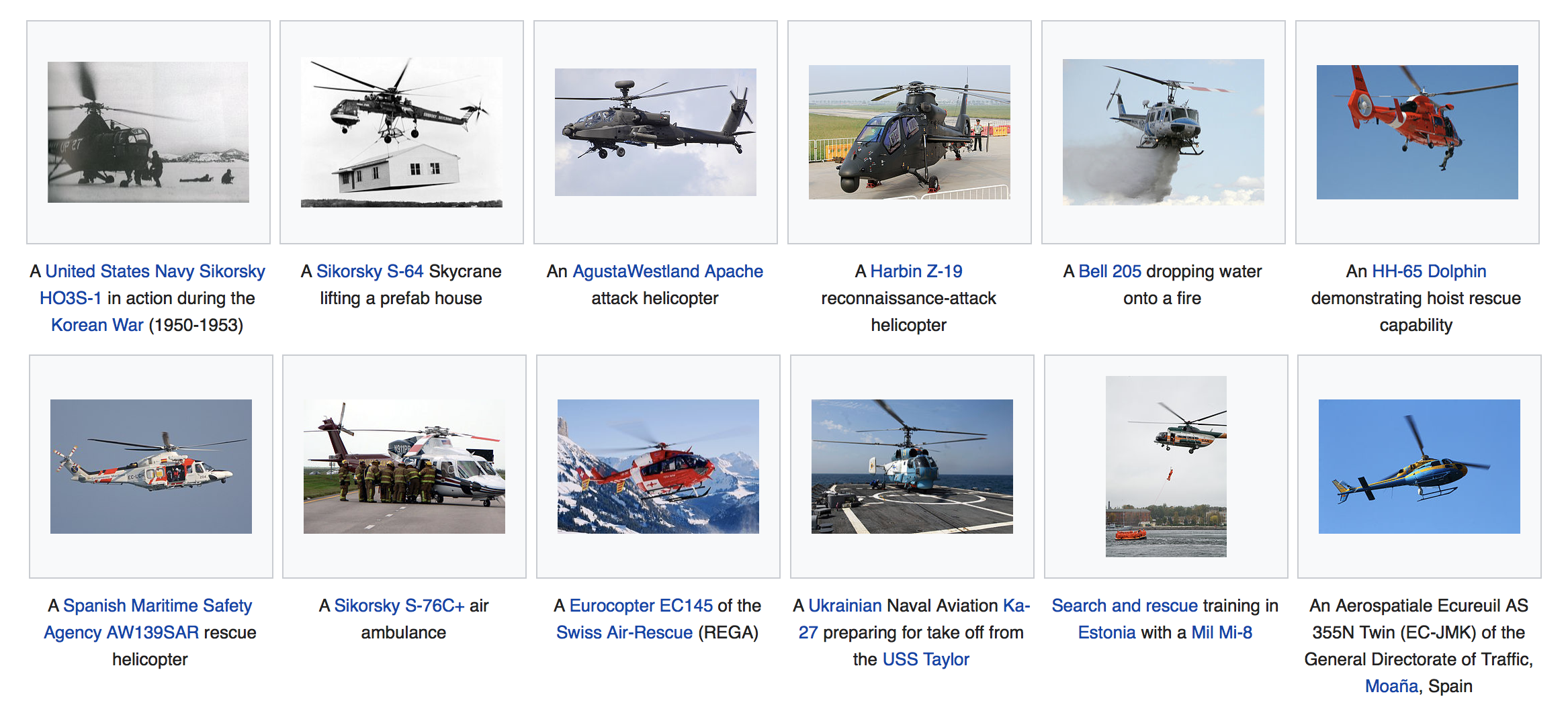 Helicopters (Wikipedia)