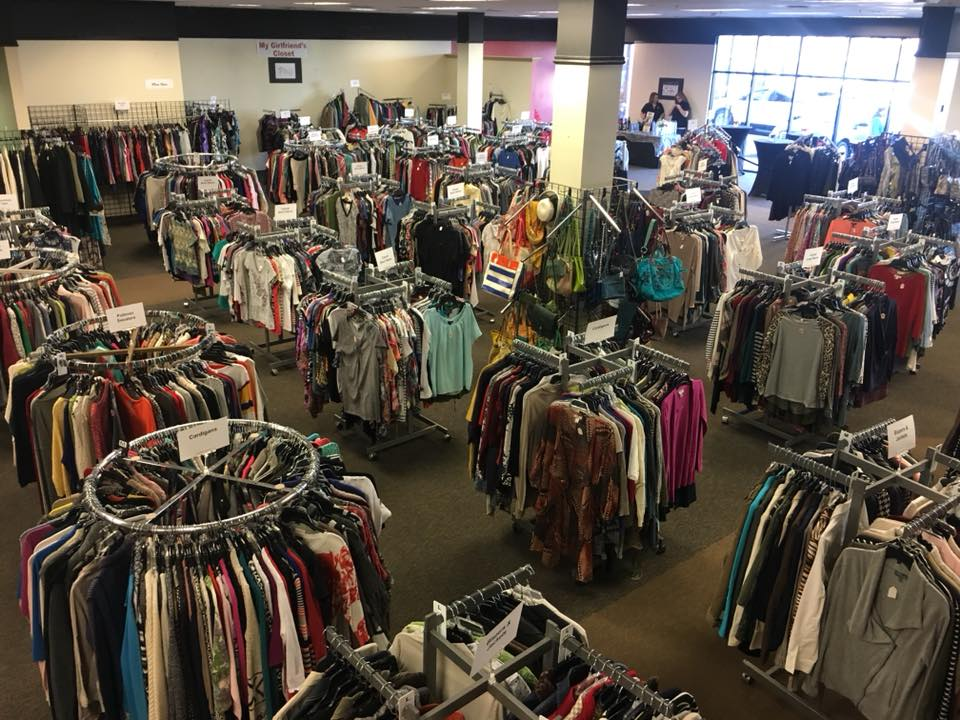 NON-PROFITS INVITE GUESTS TO SHOP FREE - A day is set aside for invited guests of NCW non-profit organizations to shop for free. This is a great opportunity for these women to collect a few business attire items for job interviews, etc. that they may not otherwise be able to afford.