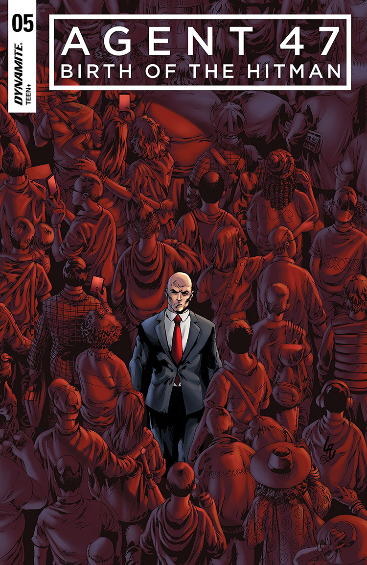 Released on April 4, 2017  Publisher: Dynamite Entertainment   As the only remaining survivor of the Institute, 47's role as Dr. Ort-Meyer's weapon is put to use one last time on an impossible contract against a shadowy foe who controls their fates. The blowback against Diana pushes her to finally track down the last name on her list, triggering a series of disasters that sets her on her collision course with the Hitman.   Art by Ariel Medel  Colors by Omi Remalante  Letters by Thomas Napolitano  Script by Christopher Sebela