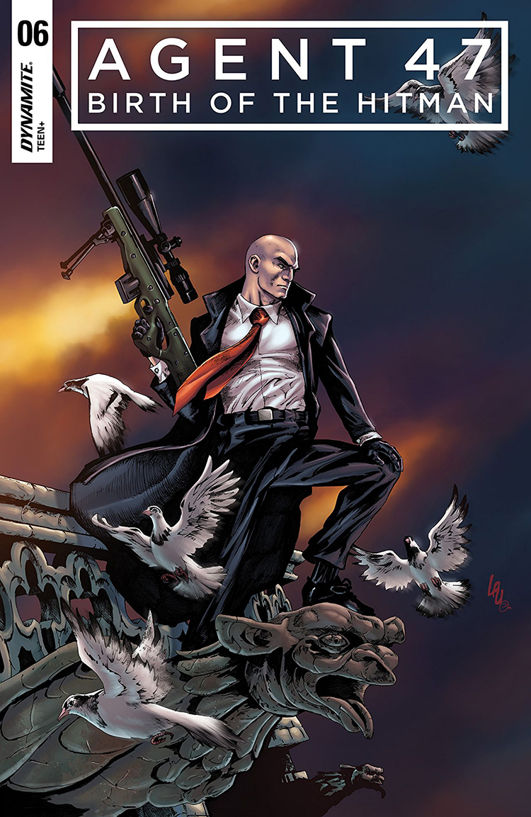 Released on June 20, 2017  Publisher: Dynamite Entertainment   Diana Burnwood has settled into her new role as a handler for the International Contract Agency, learning the ropes of her job, helping arrange hits on high-profile targets. Agent 47, finally free of the Institute, begins to build a life as a freelance assassin. When Diana is tasked with assisting her hitman in taking out the same target as 47 has been hired to kill, these two lives will finally intersect in an explosive finale.   Art by Ariel Medel  Colors by Omi Remalante  Letters by Thomas Napolitano  Script by Christopher Sebela