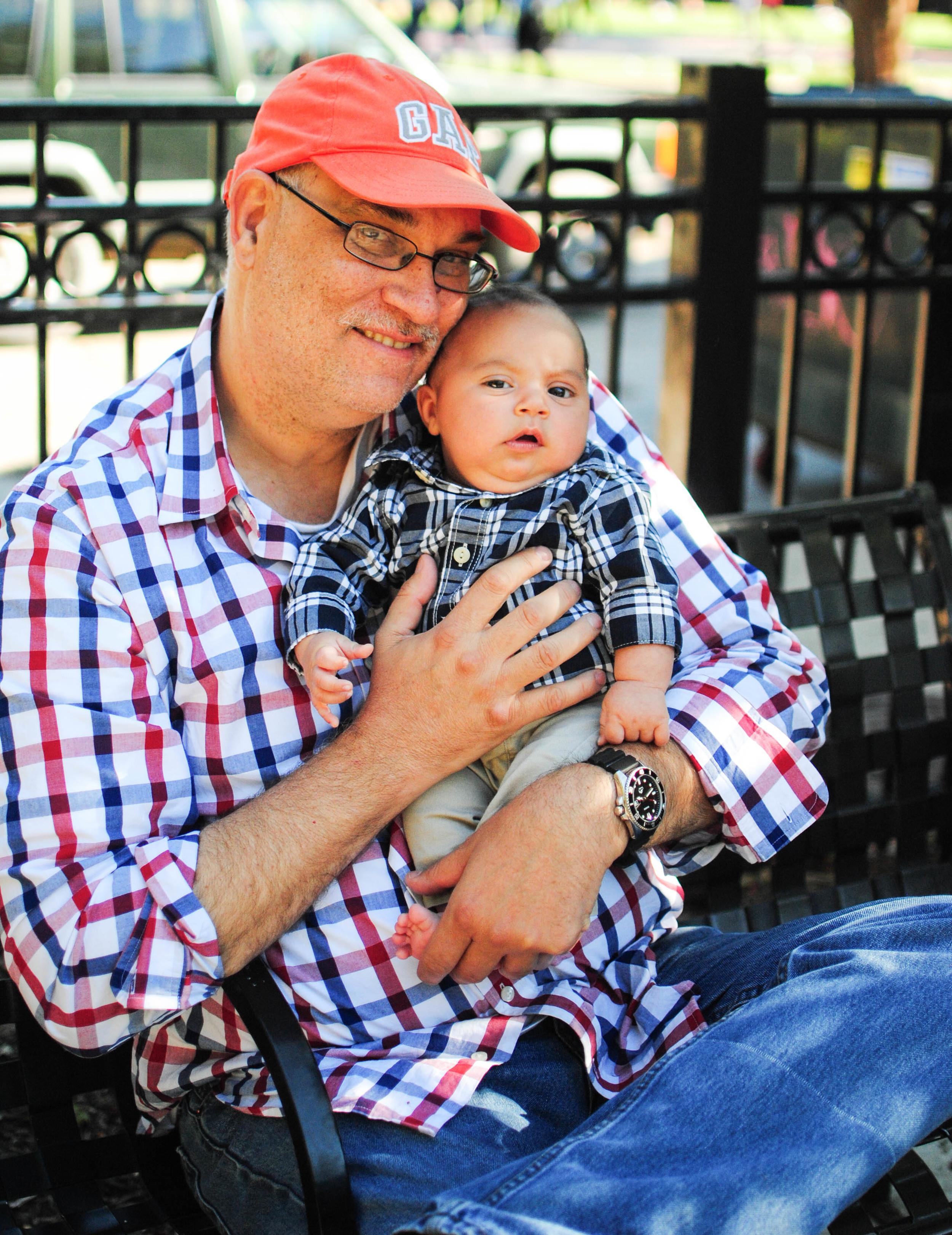 Charlie Billups with son James