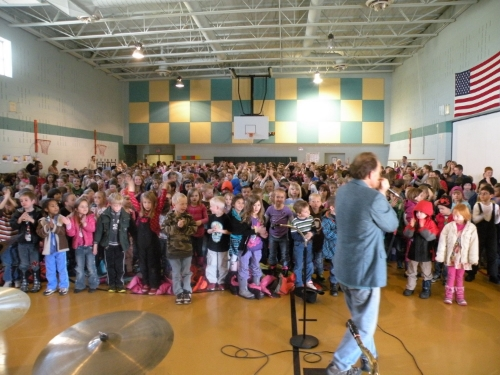 With the Bayfield Elementary Students