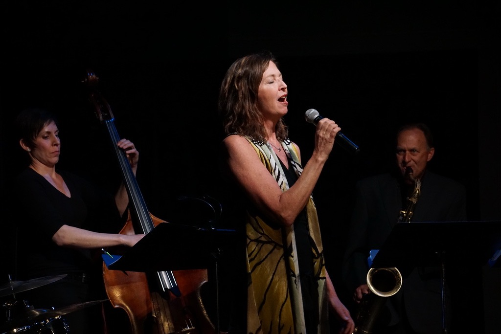 Photo By Paul Boyer: Vocalist Alison Dance with Jeff and Eli Rio