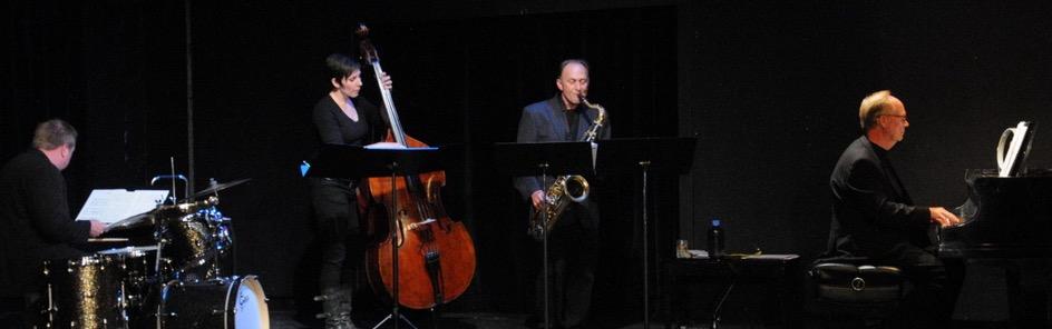 Photo By Paul Boyer: John O'Neil - Drums Elle Rio - Bass Jeff Solon - saxophone Gary Walker - piano
