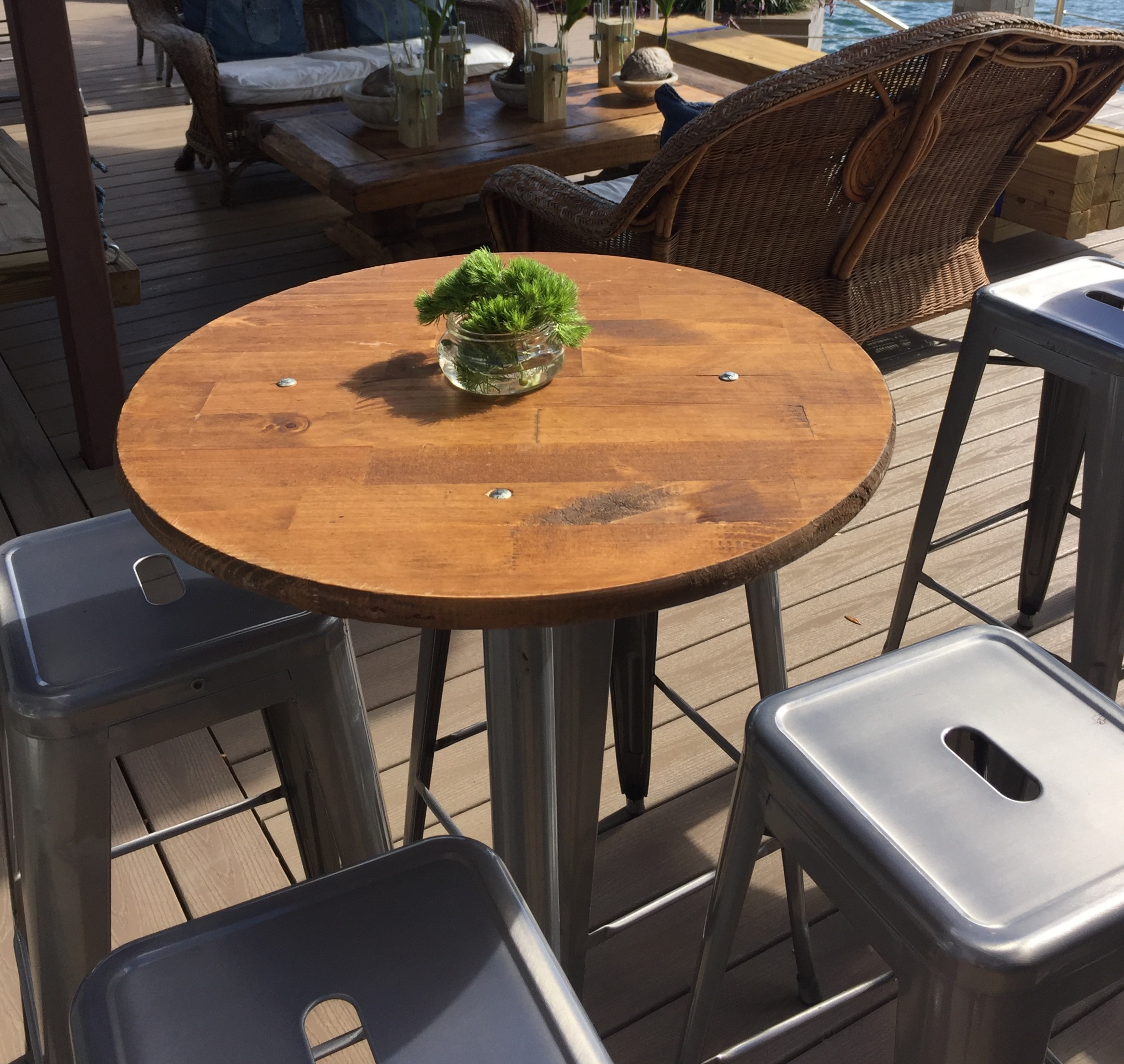 Reclaimed High Top Table 25 Simple