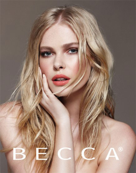 Millie for BECCA Cosmetics Campaign Photography by  Nicole Bentley