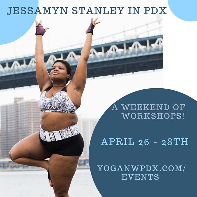 Please mark your 🗓 for this one, friends! . Repost By @yoganwpdx: 🌟Two weeks from today, Jessamyn will be here! The community class is officially sold out, but there are still spots available for the following events - register at yoganwpdx.com/events/jessamyn. Pre-registration is required, so grab your spot while you can! ⠀ ⠀ 🌟 Friday, April 26th 6:30 - 7:30pm at Yoga NW: Q&A with Jessamyn ($25) ⠀ ⠀ 🌟 Saturday, April 27th 2-4pm at Center for Equity & Inclusion:  Hip Opener Workshop ($50)⠀ ⠀ 🌟Sunday, April 28th 2-4pm at Center for Equity & Inclusion : Backbend workshop ($50)⠀ ⠀ #accessibleyoga #jessamynstanley #yogaforall #yoganw #pdxyogascene #yogainpdx #yogainportland #portlandyogascene #pdxyogaevents #nwpdx #swpdx #centerforequityandinclusion