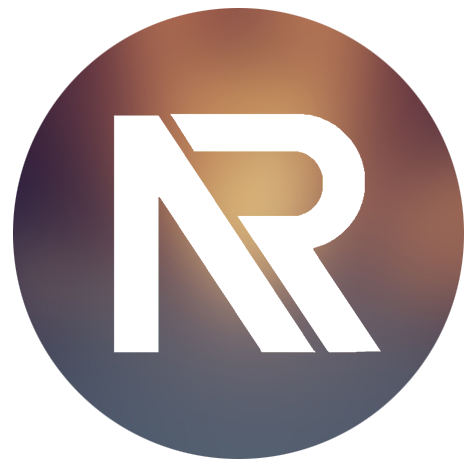 NR Logo White Letter Gold Purple Background.png