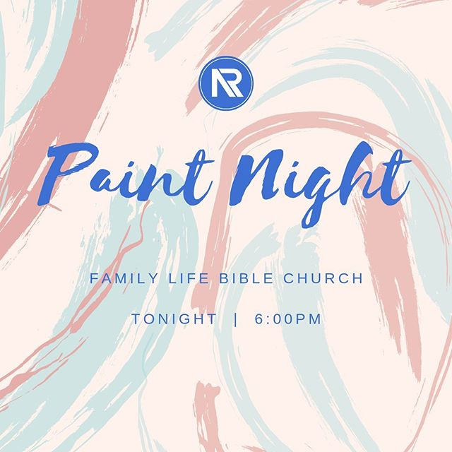 Join us tonight for our Paint Night! Come check it out - HINT - it involves paint. And it starts at 6. See you tonight at 150 Hogan Lane!