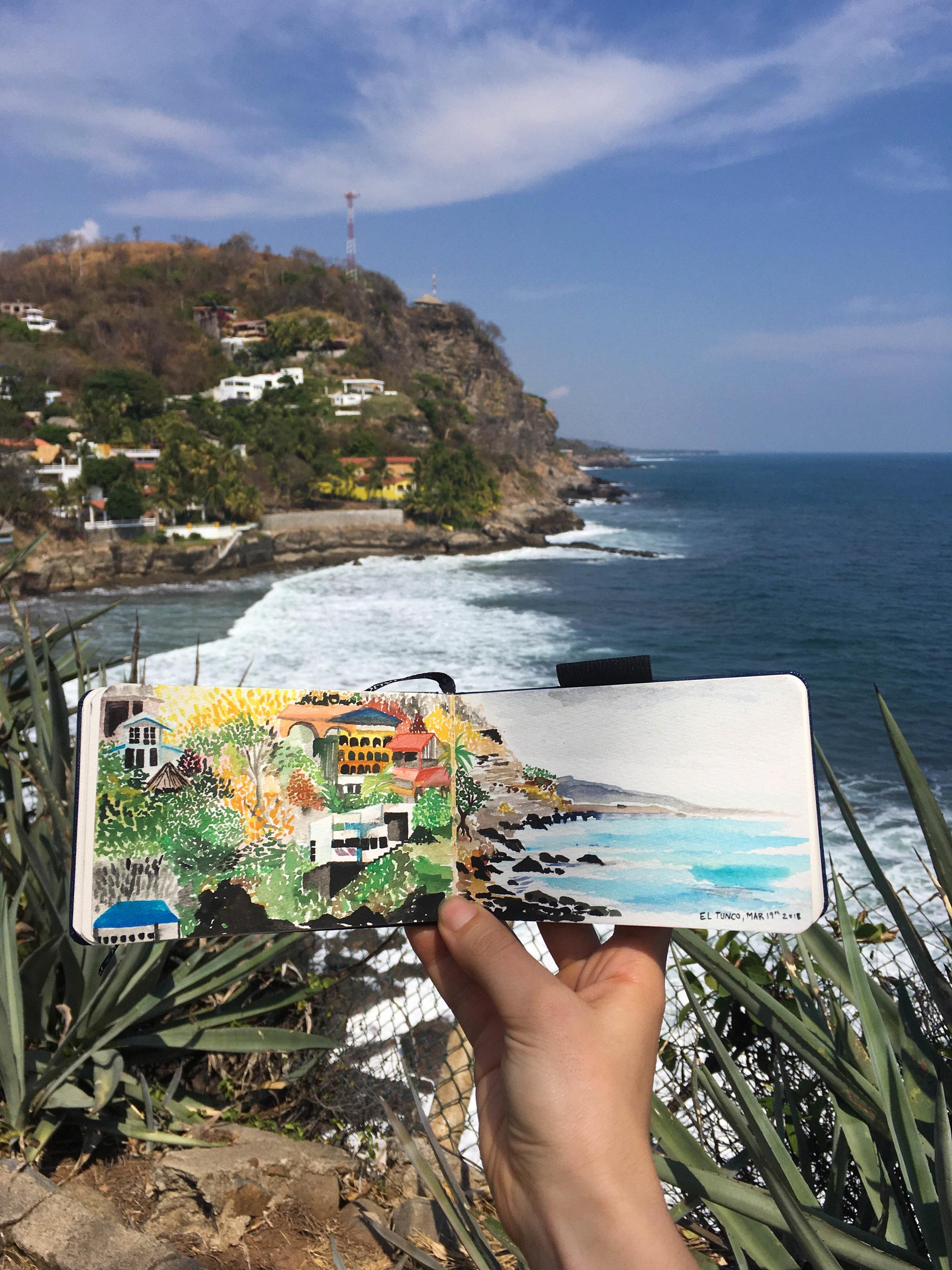 El tunco-painting and view--NatalieNehlawi.jpg