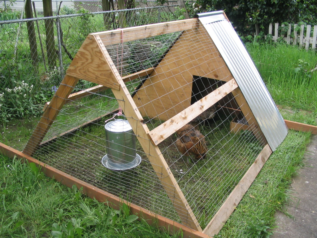 A photo of a chicken tractor from  Wikipedia