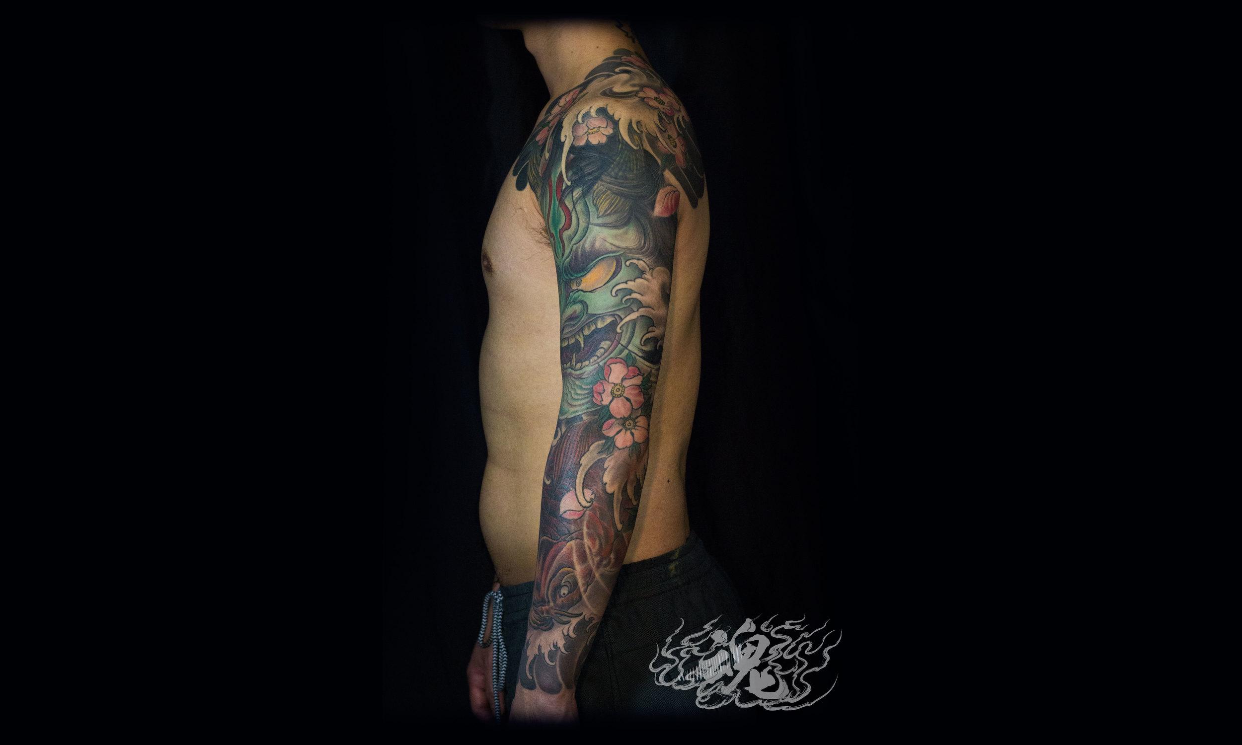 Vagrant_Souls_Hannya_with_Koi_Brooklyn_Tattoo.jpg