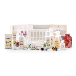 Premium Starter Kit with Thieves:   Thieves Household Cleaners, Thieves Mouthwash, Thieves Foaming Hand Soaps, Thieves Aromabright Toothpaste, Thieves Hand Purifiers, Thieves Sprays, Thieves Essential Oil, Stress Away Essential Oil, Ningxia Red Packets