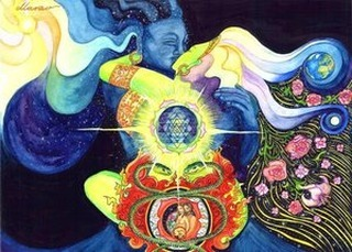 "👫 Hyperdimensional Enmeshment Between Intimate Partners // BLOG POST 👫 Through intense self-reflection and observing my clients' hyperdimensional wellness, I have come to believe that our relationships—especially intimate relationships—not only impact our mental and social health, but all aspects of ourselves, including hyperdimensional aspects. This occurs through what I call hyperdimensional induction, which is similar to osmosis. Energy works to create balance within relationships, and our energy fields, or hyperdimensional aspects, seek to find a level ground for the interactions. In other words, if one's vibration is higher than another's, and those two spend a lot of time together (especially intimately), then the person with the higher vibration will begin to fill in the ""holes"" of the other person's energy field. Conversely, the recipient may feel challenged to raise his or her vibration to connect on a more mutual level. Over time, their energy fields balance to a similar vibration. While hyperdimensional induction is a natural law of physics and energetics, it may be harmful for one or both parties involved if done unconsciously or with poor hyperdimensional boundaries. In this case, hyperdimensional enmeshment may occur. Too much time or proximity during which hyperdimensional induction occurs or where there is an inappropriate codependency can exacerbate hyperdimensional enmeshment. Often, I see hyperdimensional cords between enmeshed couples. These cords, even at a distance, act to bind the couple, and they may leak energy to one another, inadvertently control their partner's energy, or suck each other's life force. Hyperdimensionally enmeshed couples use each other as surrogate for their life force rather than connecting directly with Source. 🌼🌼🌼To continue reading this blog and others like it, get your free eBook. Link in bio @awakeningwithkarihalvorson . . #happyart #innerself #innervoice #innergrowth #innerlight #innerwork #innerwisdom #innerspace #innerjourney #innerhealth #healingart #healingtime #healingpower #writerofig #writeofinstagram #writerwrite #speakeroflife #healers #energyhealer #intuitivehealer #healersofinstagram #happyart"