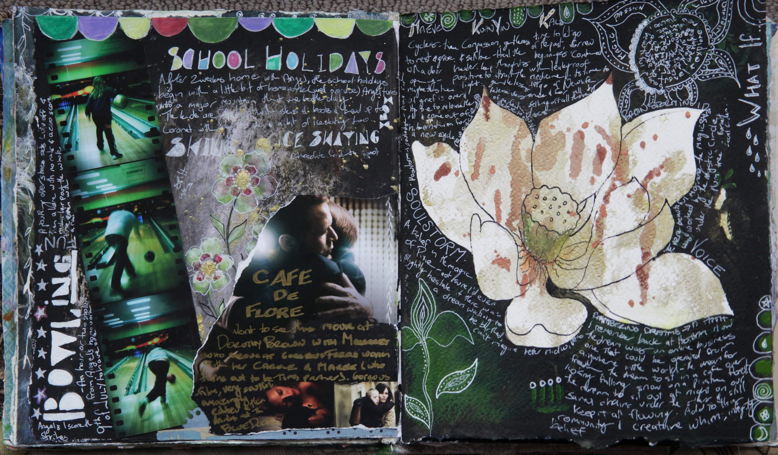 Mixed media visual journal - Galia Alena
