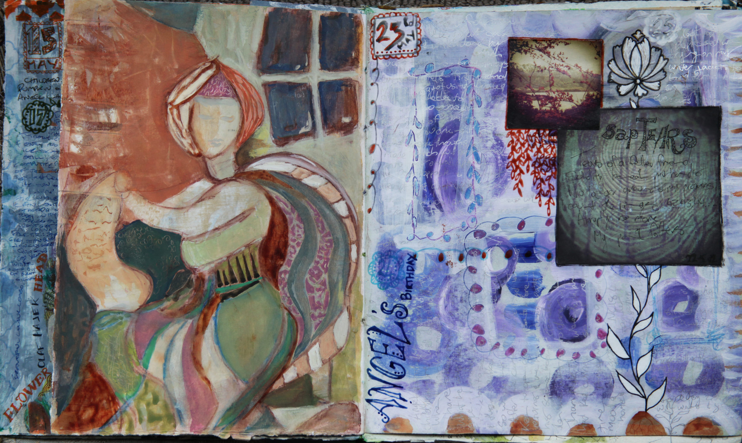 Mixed media art journal page  - Galia Alena