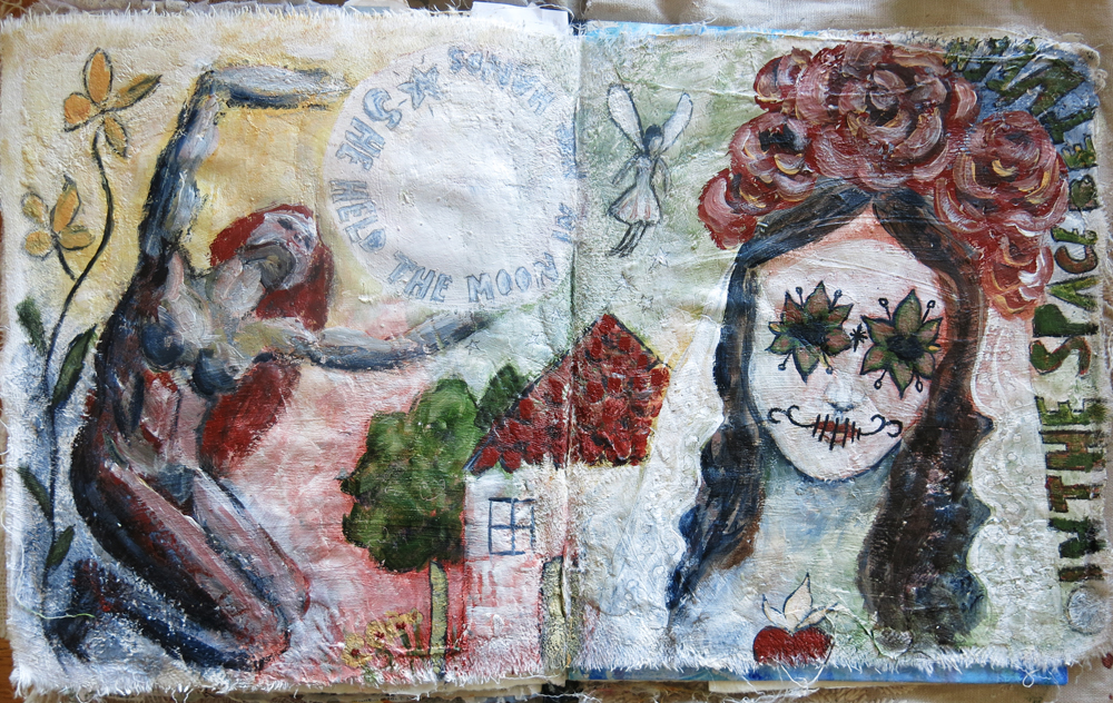 Day of the Dead art journal  - Galia Alena