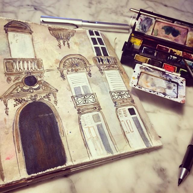 Sketching in Paris  - Galia Alena