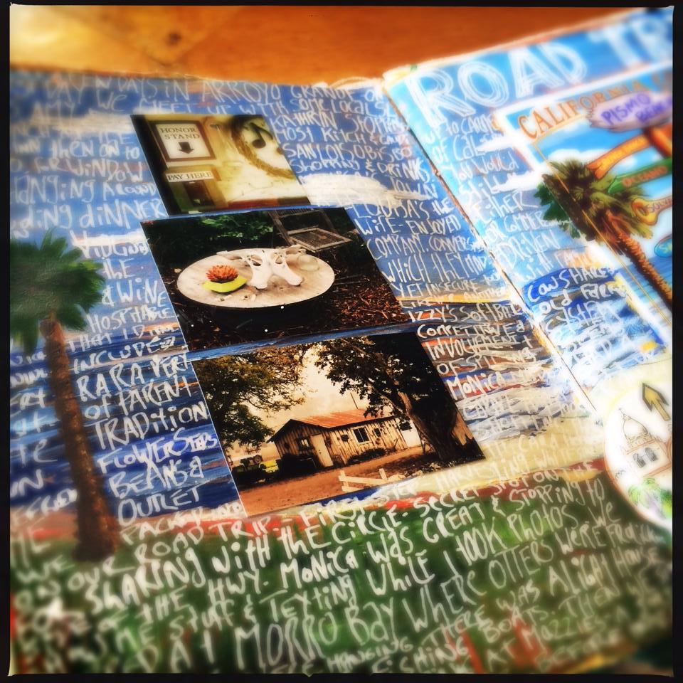 Hwy 1 Road Trip travel journal, visual journal - Galia Alena