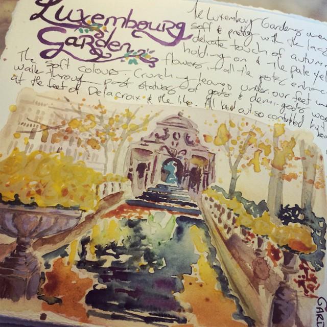 Luxembourg Gardens Paris travel journal - Galia Alena