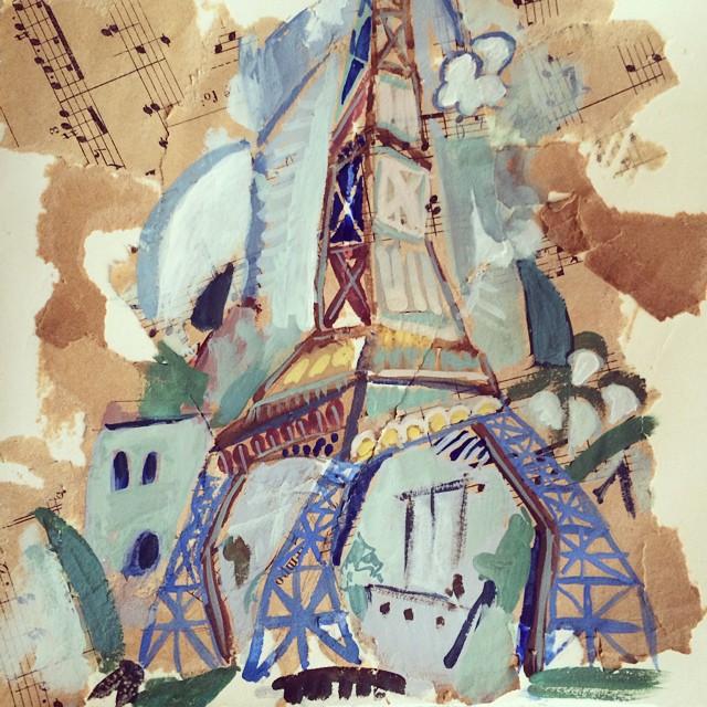 Eiffel Tower, travel journal - Galia Alena