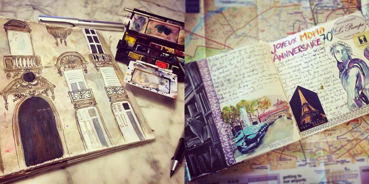 Paris visual journaling - Galia Alena