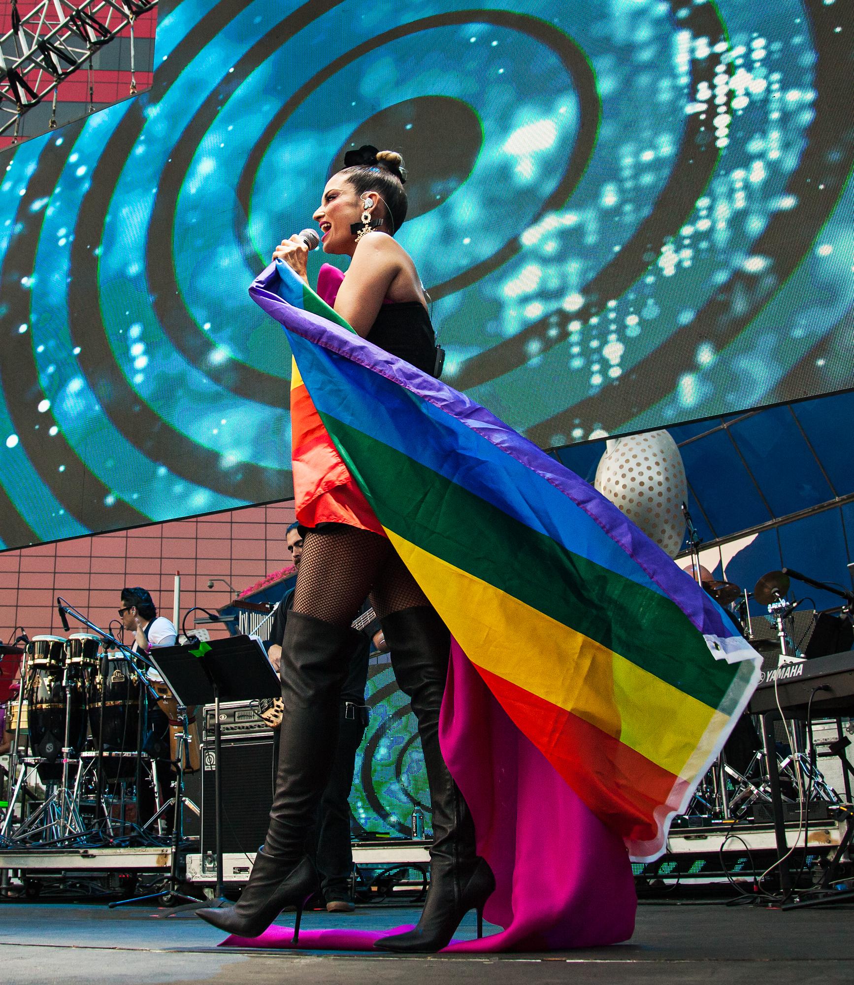 Natalia Jimenez at LA Pride 2018. Photo by Kat Kaye.