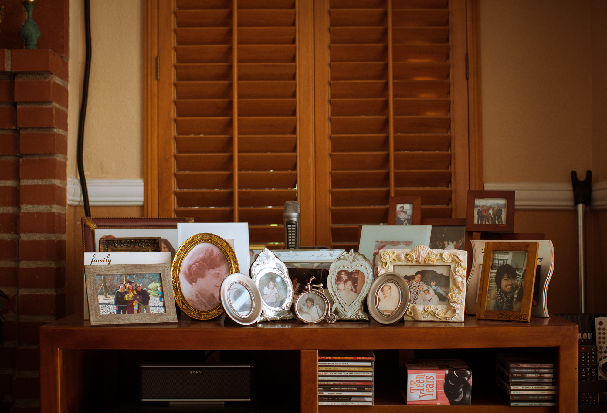 Family photos at the home of Manolo Guerra in Moreno Valley, California, Wednesday, Aug. 7, 2019. (Photo/ Kat Kaye)