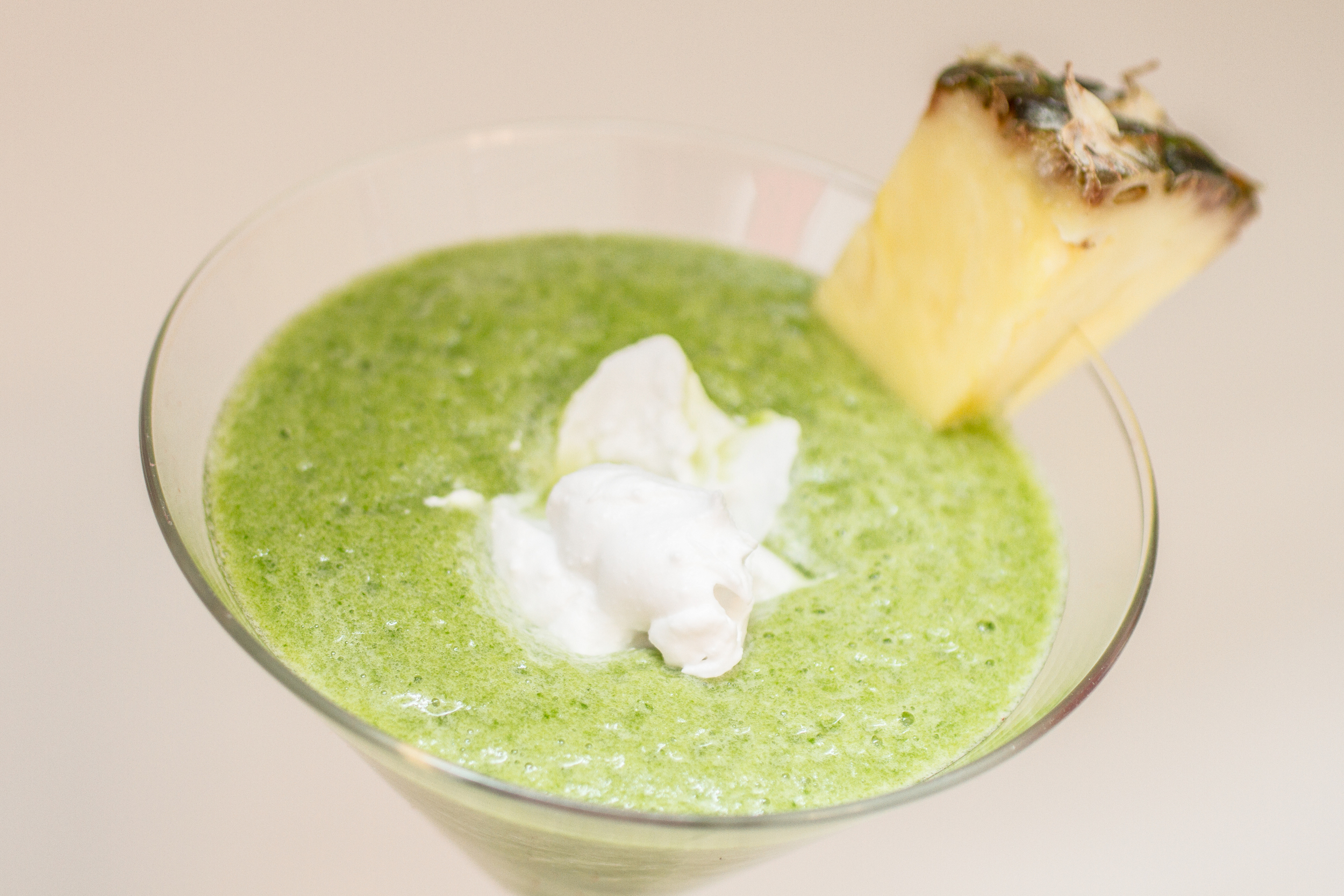 Green Pina Colada Smoothie made with Cafe' Luxe stainless steel made with Cafe' Luxe best milk frother and foam maker