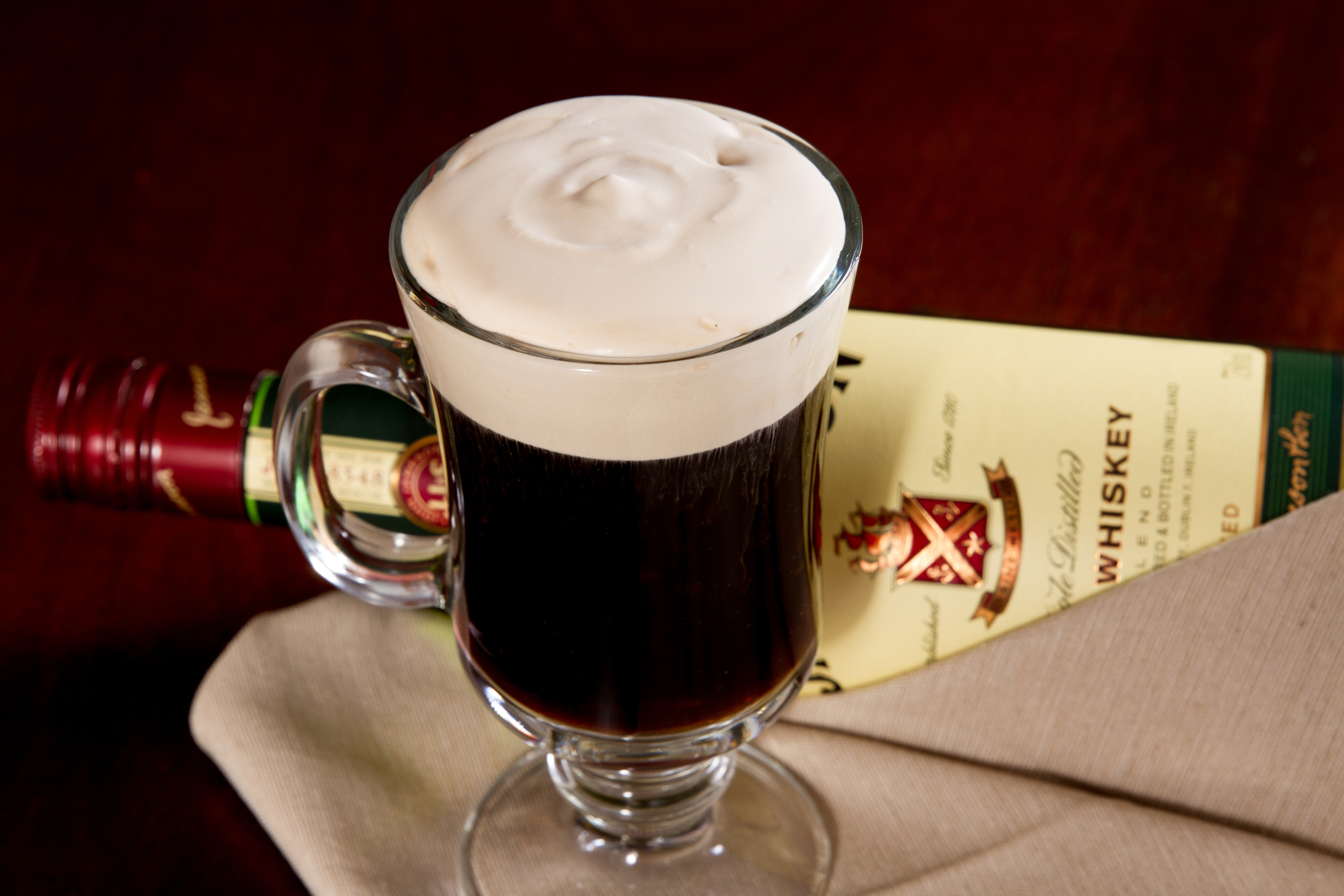 Irish Coffee made with Cafe' Luxe stainless steel made with Cafe' Luxe best milk frother and foam maker