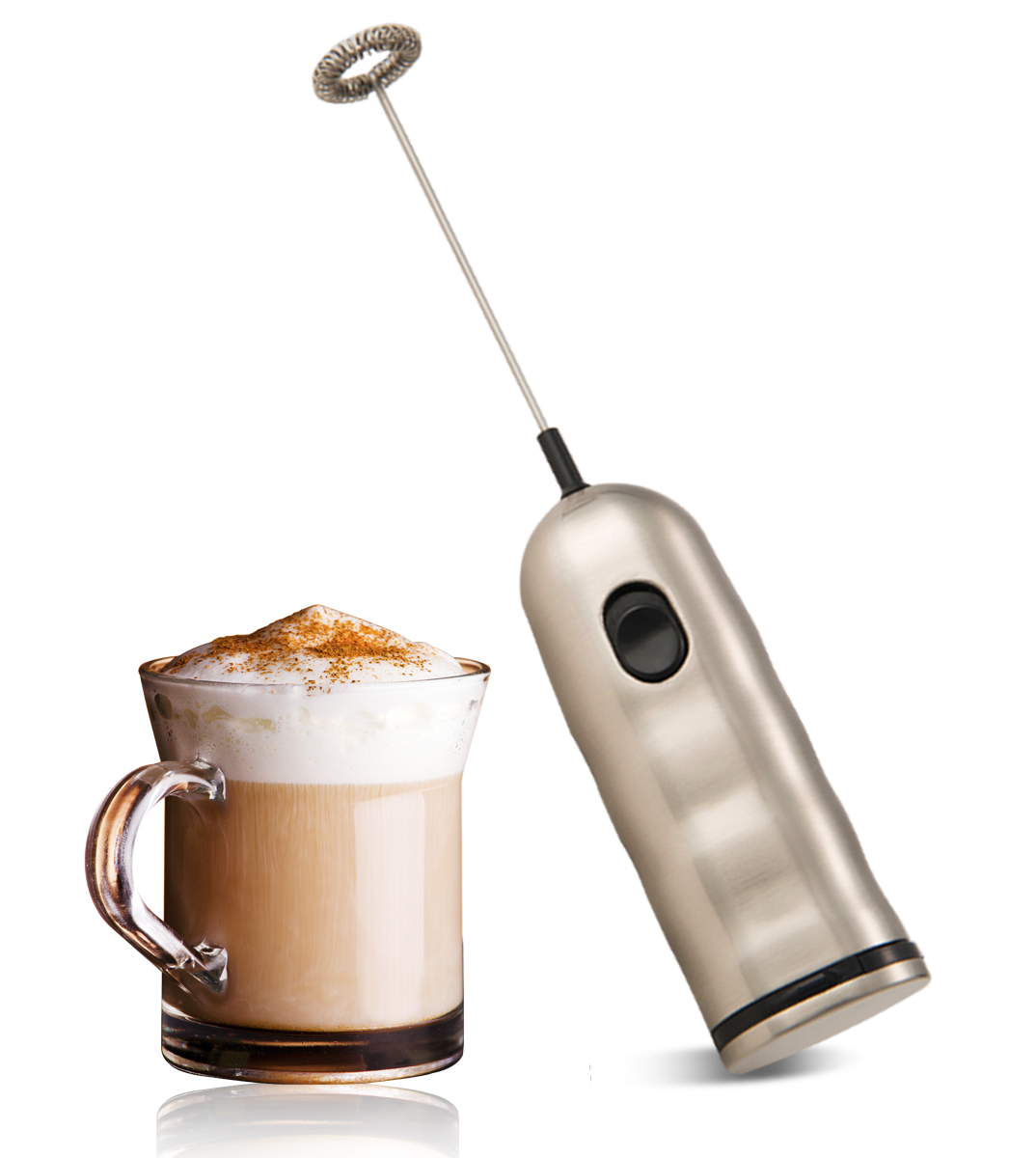 Cafe Luxe stainless steel milk frother foam maker latte