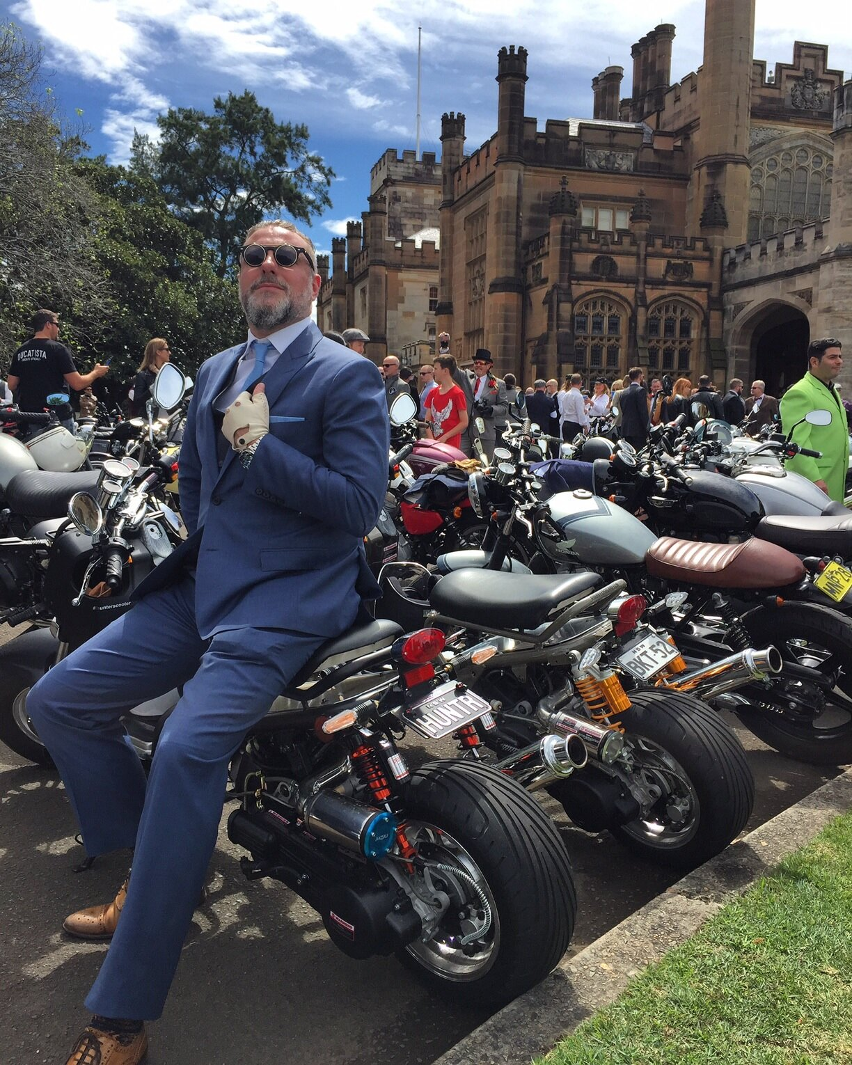 Don your finest attire and ride for a cure to prostate cancer.