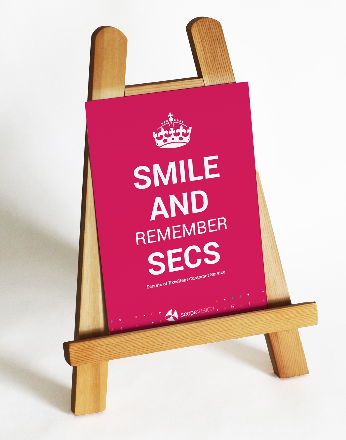 SECS on easel
