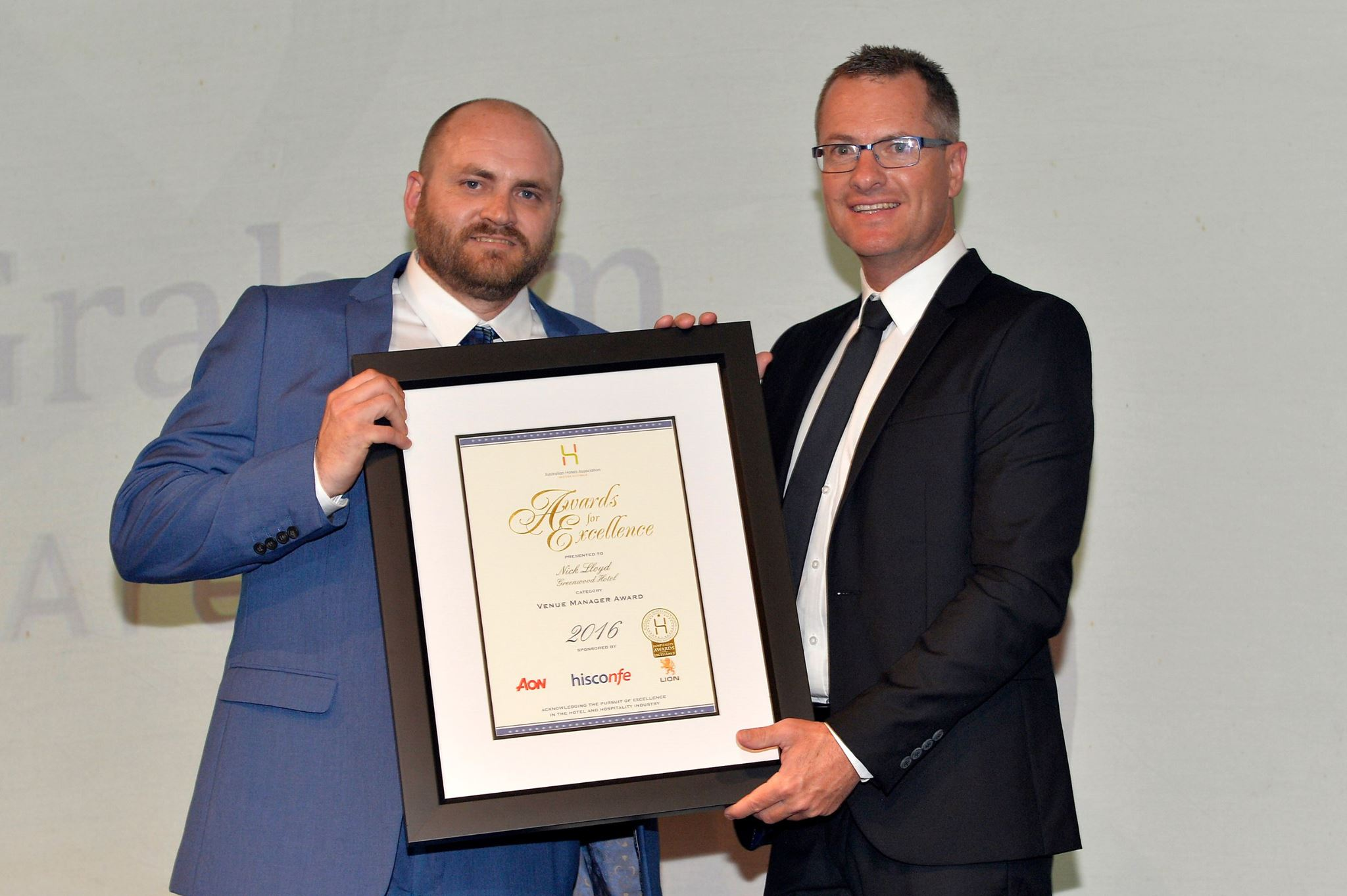 Nick Lloyd: 2016 winner - Australian Hotels Association WA Award for Excellence: Venue Manager [Greenwood Hotel - ALH Group]