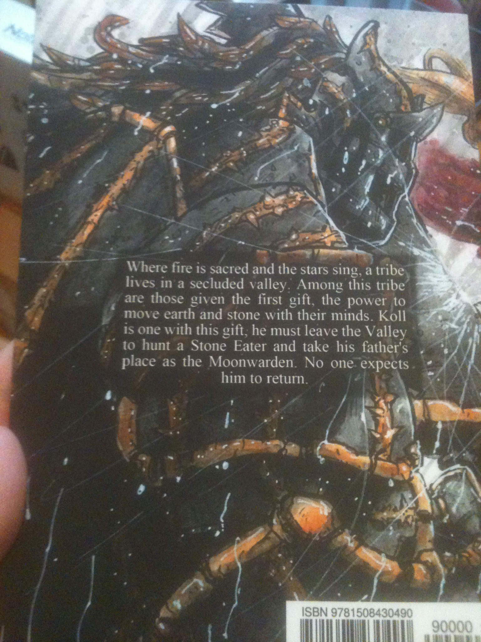 Back cover depicting Torzek, one of the Forgers.