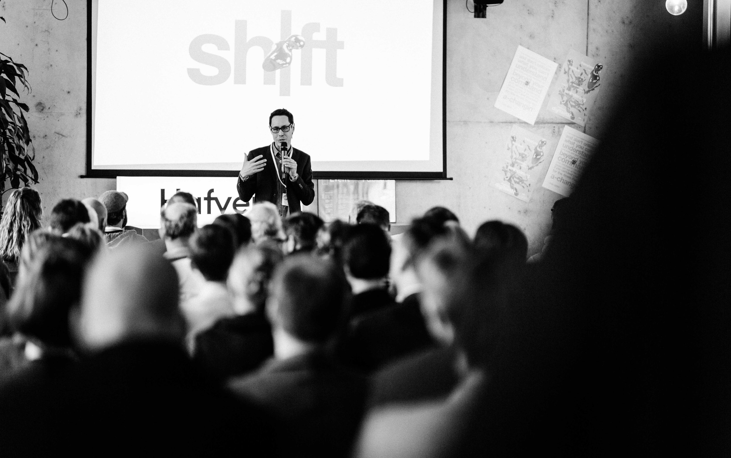 #shifthappens - A new conference format in 2018 for Digitization, Culture & Ethics. My role: inventor, host, designer, social media, web. Went #7 in German Twitter Trends.