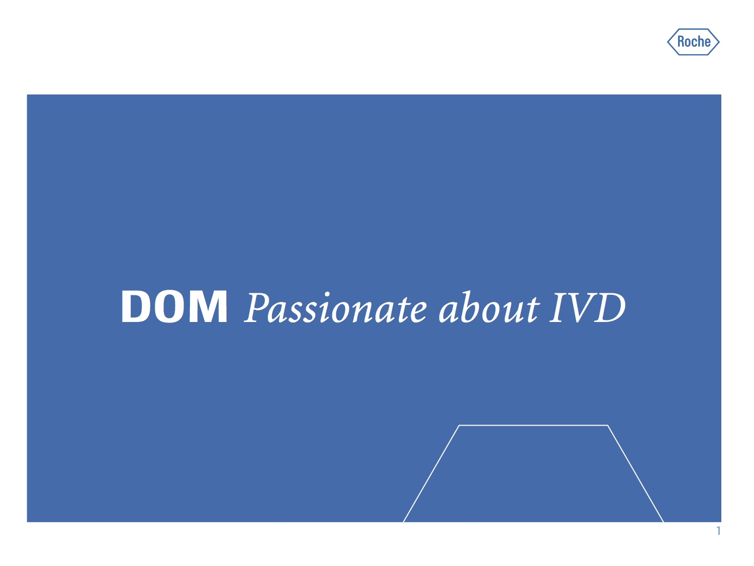 3Y Positioning at Roche - Internal and external positioning project including interviews, framework, claiming, design, materials, international events.