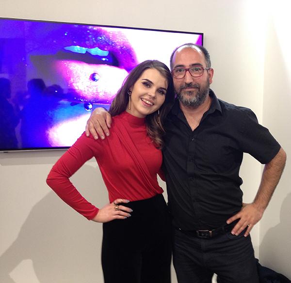 Gabrielle Drimalovski with Angel Luis Gonzalez Fernandez, Director of PhotoIreland.