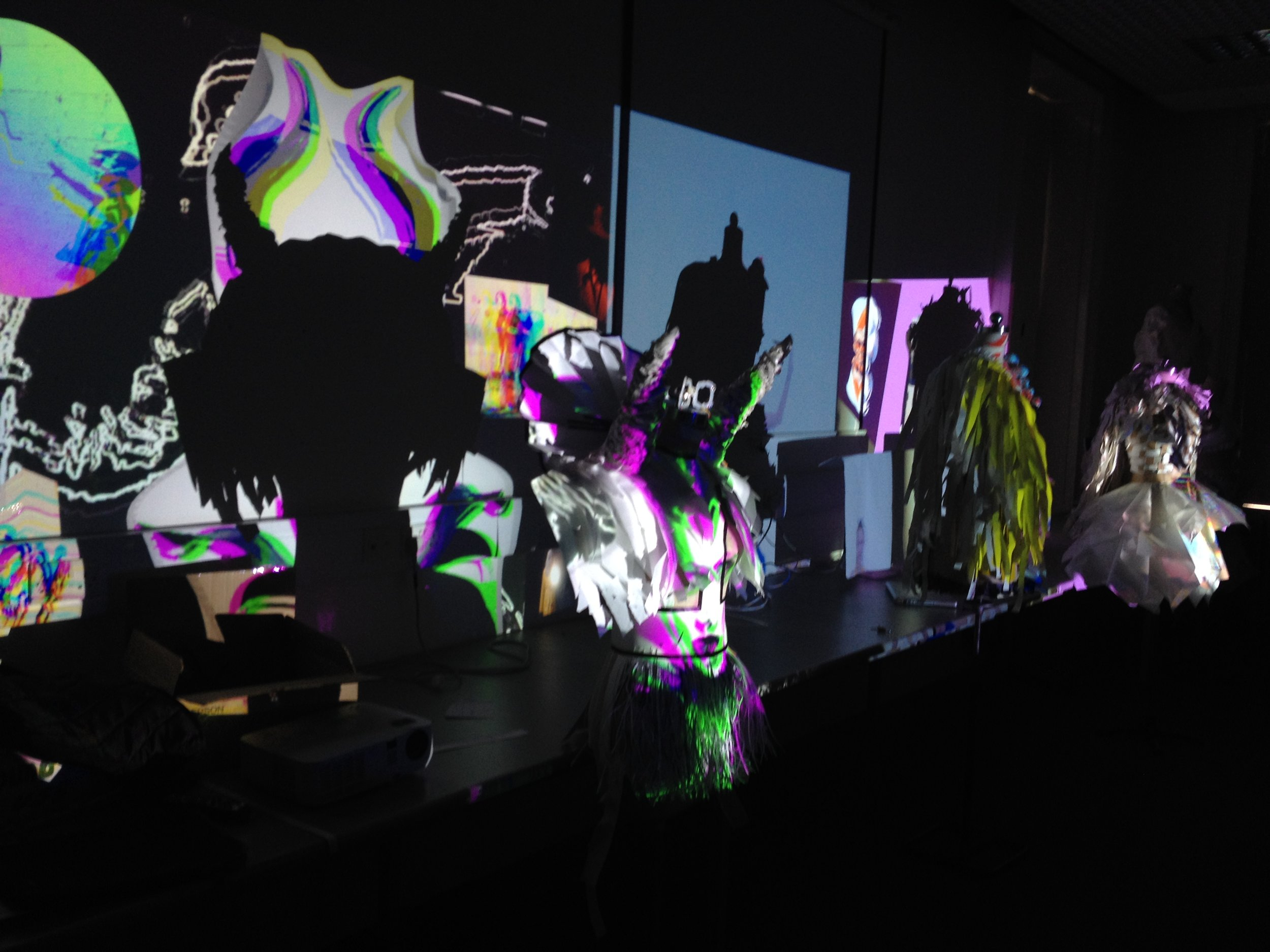 Projection mapping with students at LSAD, June 2019.