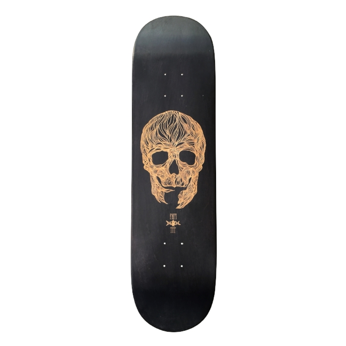 fkm tattoo skateboard collaboration 2 with le shape