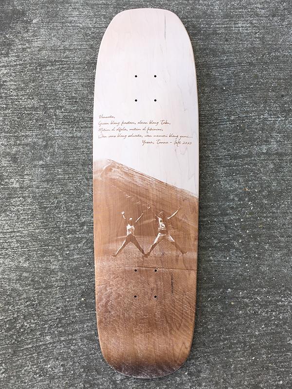 Custom skateboard photo